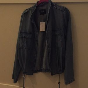 Rails - lightweight denim Anorak style jacket